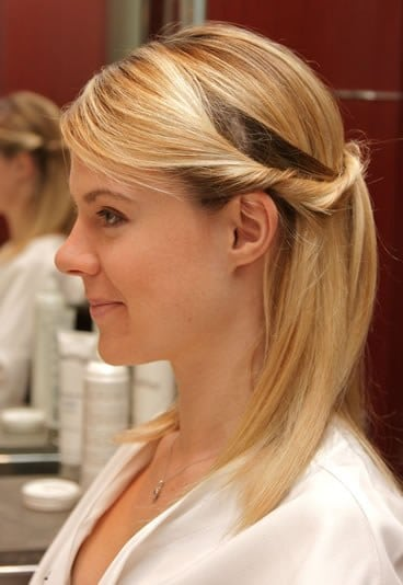 Coiffure rapide simple (photo aufeminin.com)